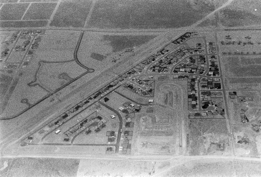 An aerial view of Taylor Ranch in 1977.